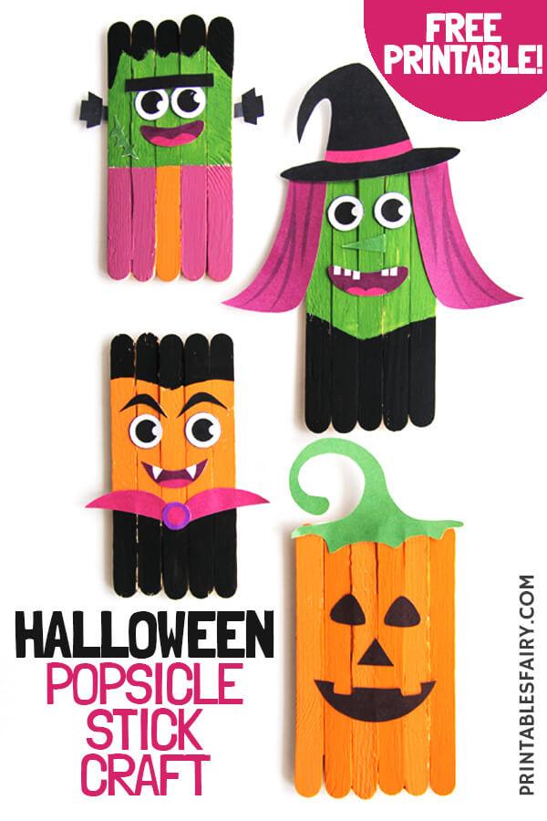 Halloween Crafts Using Popsicle Sticks