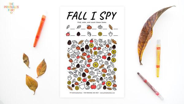 Fall I Spy Printable Game