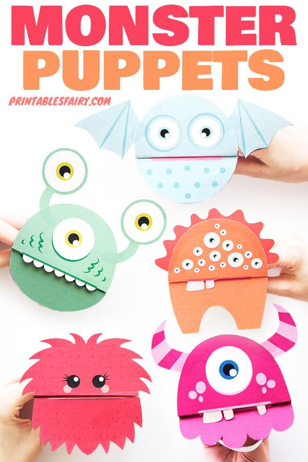 DIY Monster Puppets