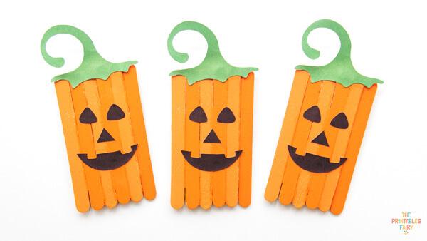 Pumpkin Popsicle Sticks Craft