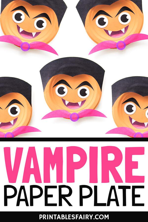 Paper Plate Vampire Craft