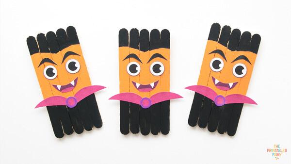 Vampire Popsicle Sticks Craft