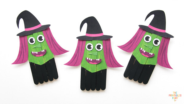 Witch Popsicle Sticks Craft