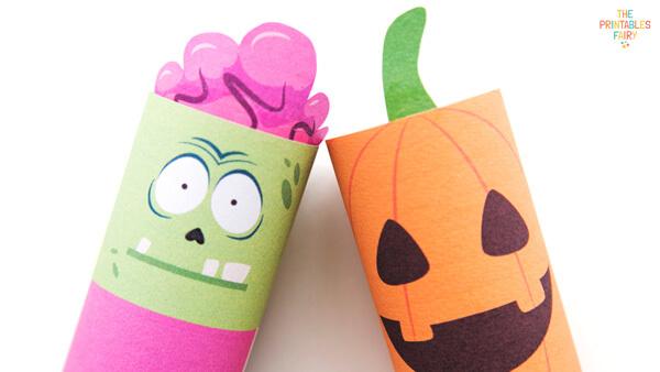 Zombie and Pumpkin Toilet Paper Rolls